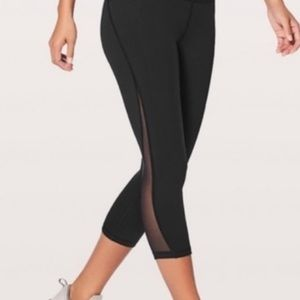 black lululemon all the right places crop